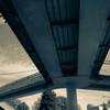 歩道橋の風景