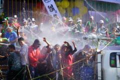 ヤンゴン水かけ祭り1