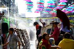 ヤンゴン水かけ祭り2