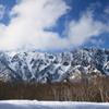 去りゆく雪の戸隠山