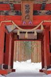 冬の随神門