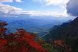 戸隠山の尾根から見える風景