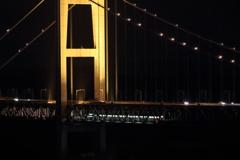瀬戸大橋とトロッコ列車
