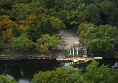 大阪城天守閣から臨む初秋景