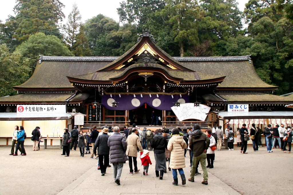 お正月の大神神社