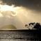 晩秋の竹生島