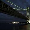 冬の明石海峡大橋