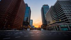 夜明の東京
