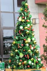 野菜のクリスマスツリー 1