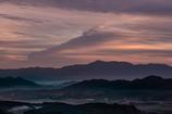 めずらしい雲がまるで馬の横顔のように見えた朝