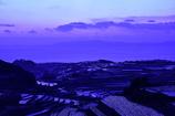 夕景の棚畑