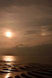 夕日と虹のコラボ