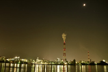 Industrial area of the moonlight