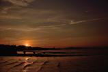 夕景の満ち潮