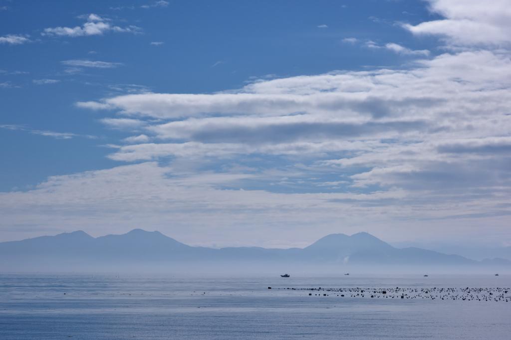 朝の島原湾