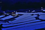 おとぎの国の赤い屋根の集会場