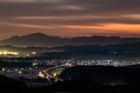 夜明け前の新幹線の軌跡