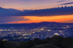 若草山から見た夜景