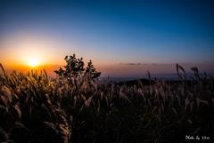 大阪sunset_葛城山より