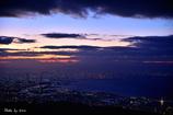 大阪湾の夜明け
