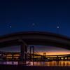 夜明けのレインボーブリッジ&ループ橋