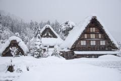 豪雪の合掌造り