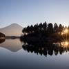 田貫湖の朝陽