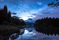 流雲と田貫湖