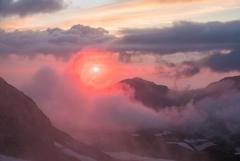 夕紅 ー立山景ー