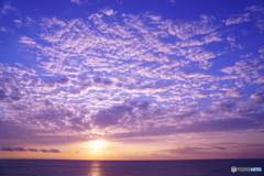 うろこ雲の朝