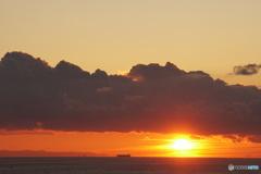 くもり雲の朝