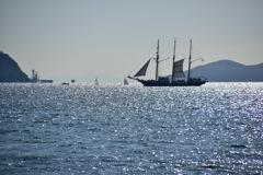 和歌の浦 帆船