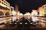 みなと大通り公園の夜景2017