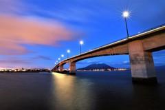 黎明みなと大橋の夜景6