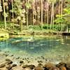 エメラルドブルーの池