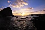 後浜展望所からの夕日5