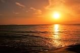 江口浜より望む夕日