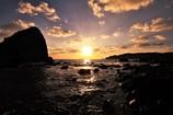 後浜展望所からの夕日4