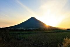 薩摩富士の日の入り