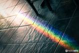 ハワイの虹 in レストラン