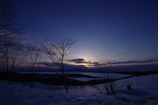 網走湖の夕……まだ冬です