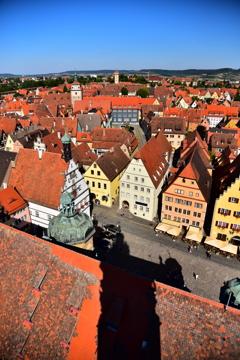 View from Rathaus von Rothenburg
