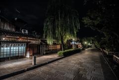 Night view of Gion Shirakawa Street