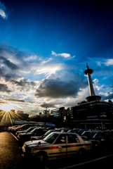 Kyoto Tower at Sunset