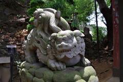 狛犬_品川神社