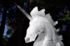 「駆ける幻獣」_明治神宮奉納全国氷彫刻展