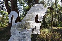 「馬」_明治神宮奉納全国氷彫刻展