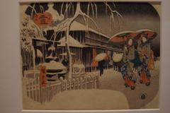 江戸名所・雪_東京国立博物館