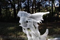 「飛美魚」_明治神宮奉納全国氷彫刻展