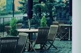 誰もいないカフェ